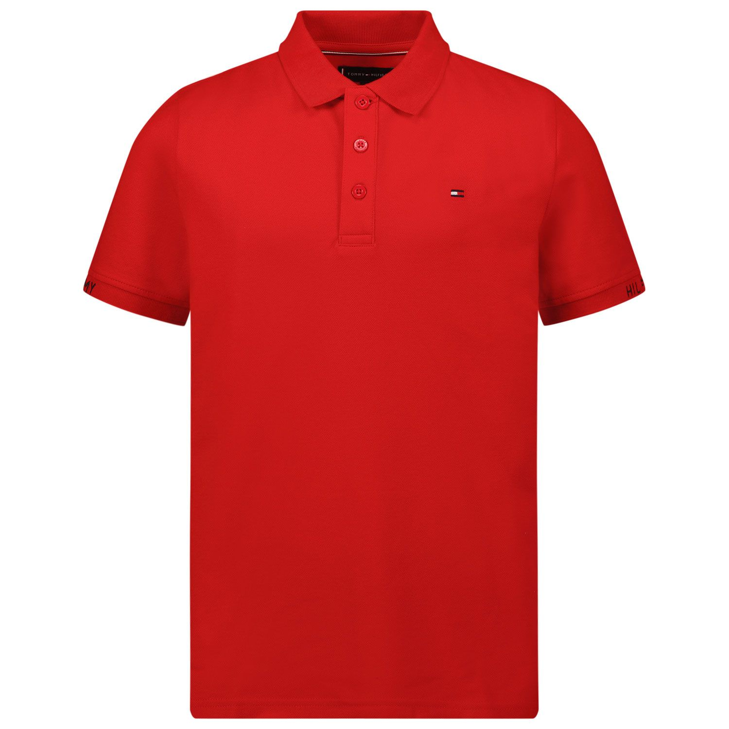 Picture of Tommy Hilfiger KB0KB06538 kids polo shirt red