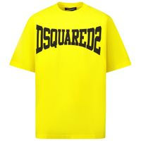 Picture of Dsquared2 DQ0156 kids t-shirt yellow