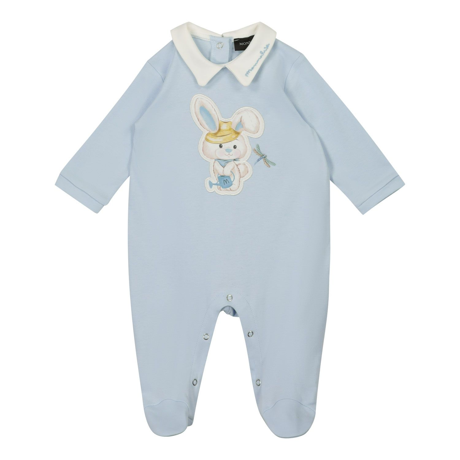 Picture of MonnaLisa 227206 baby playsuit light blue