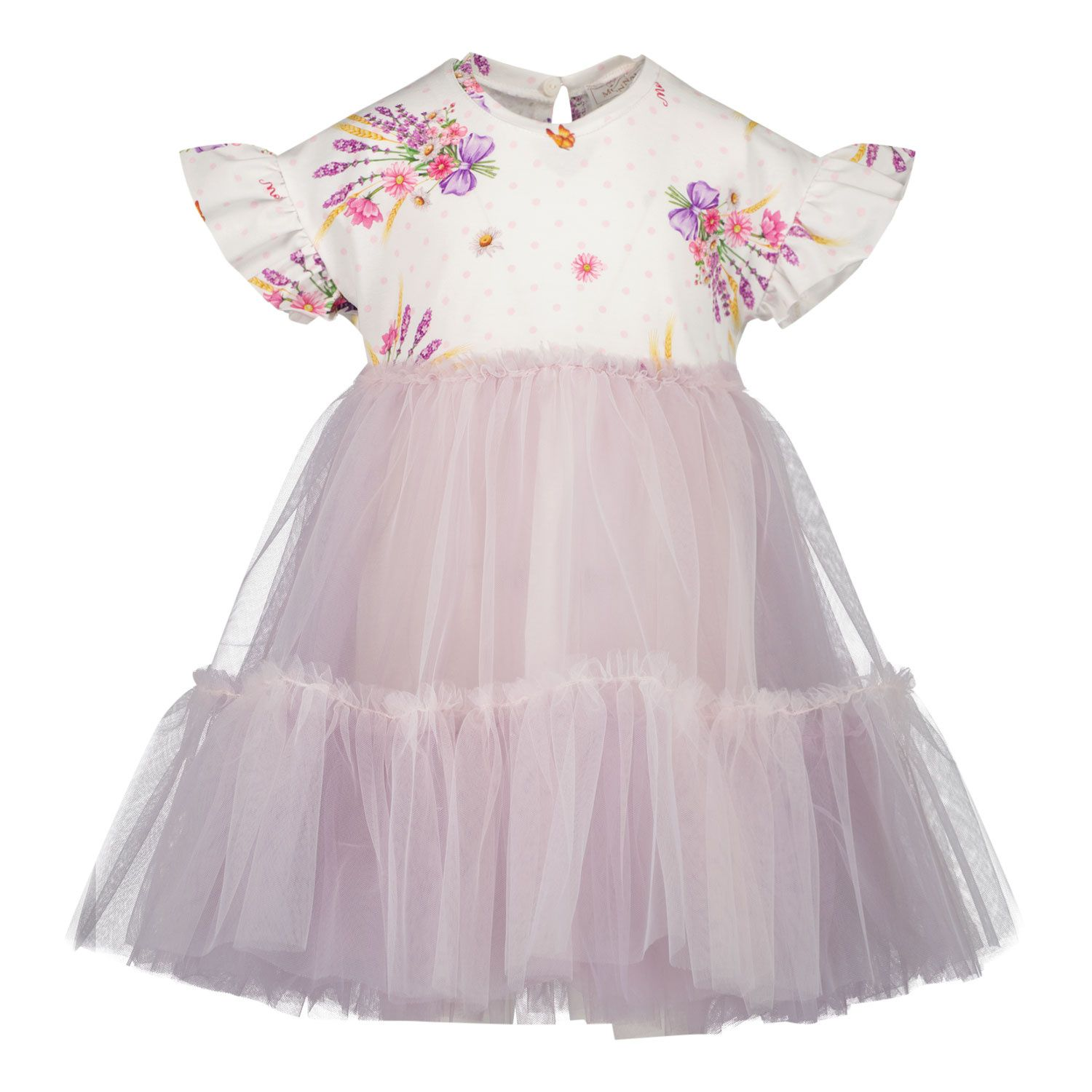 Picture of MonnaLisa 317915 baby dress lilac