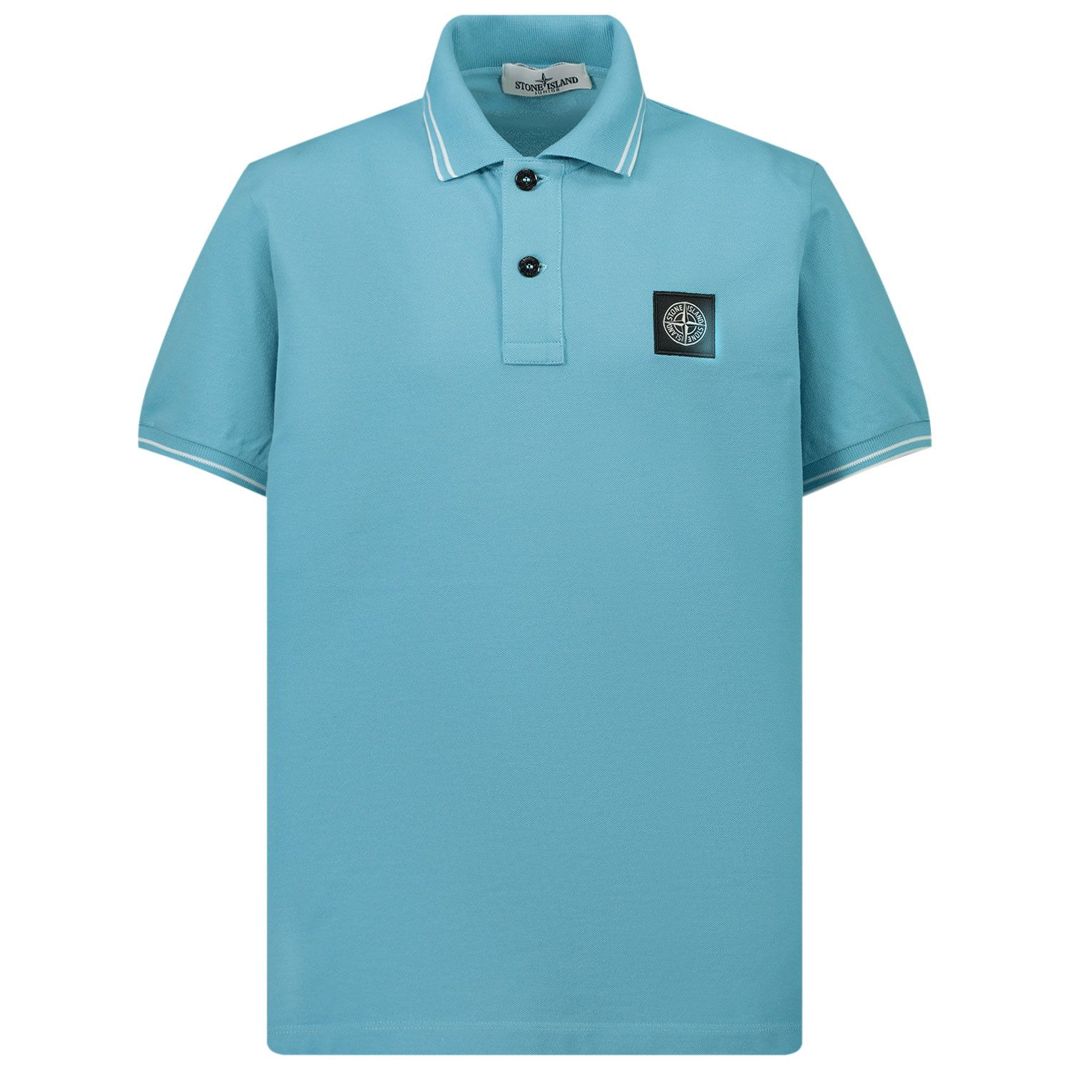 Picture of Stone Island 21348 kids polo shirt turquoise