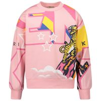 Picture of Kenzo KR15008 kids sweater pink