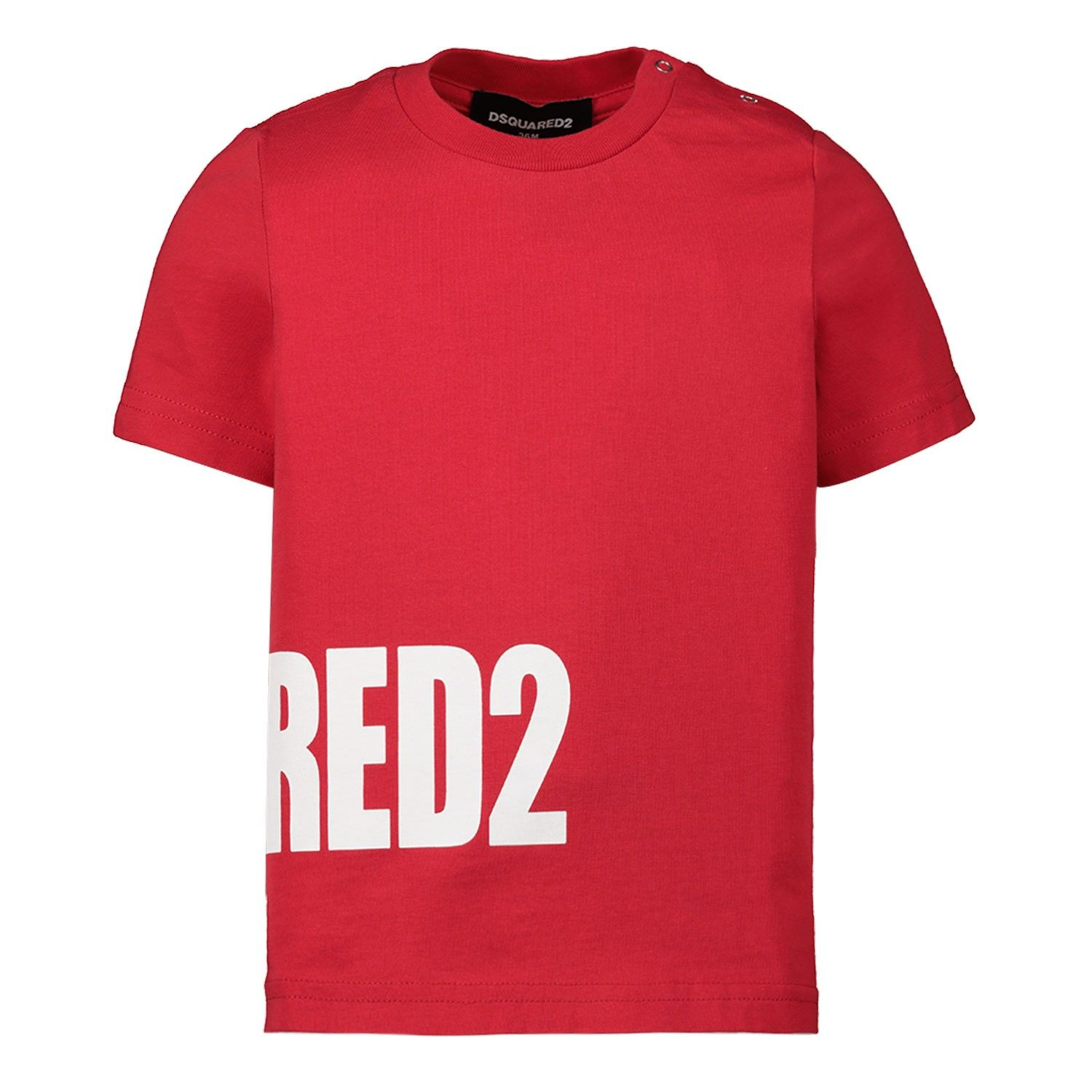 Picture of Dsquared2 DQ040Y baby shirt red