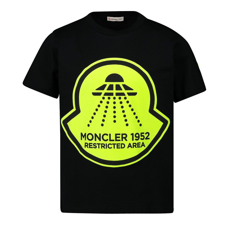 Afbeelding van Moncler 8C70620 kinder t-shirt zwart