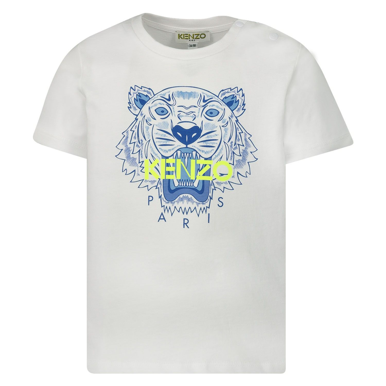 Picture of Kenzo 10718BB baby shirt white