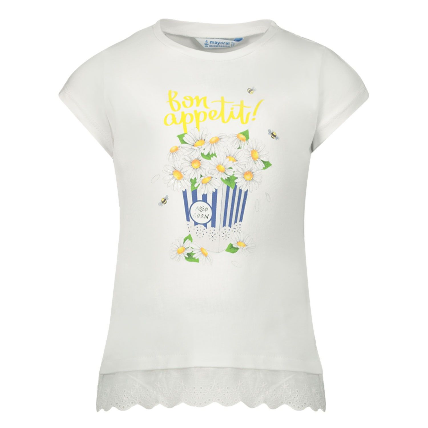 Picture of Mayoral 3013 kids t-shirt white
