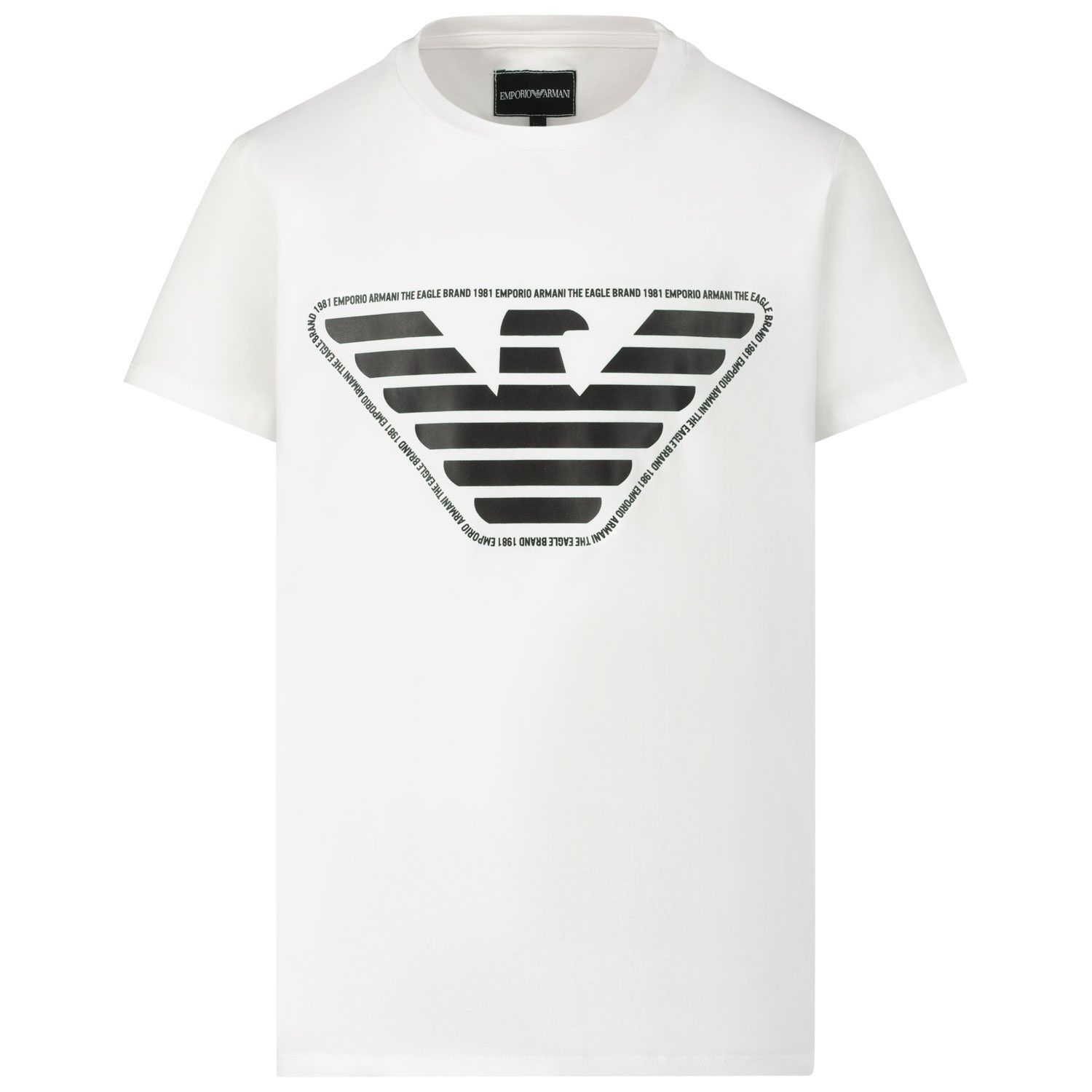 Picture of Armani 3H4T92 0100 kids t-shirt white