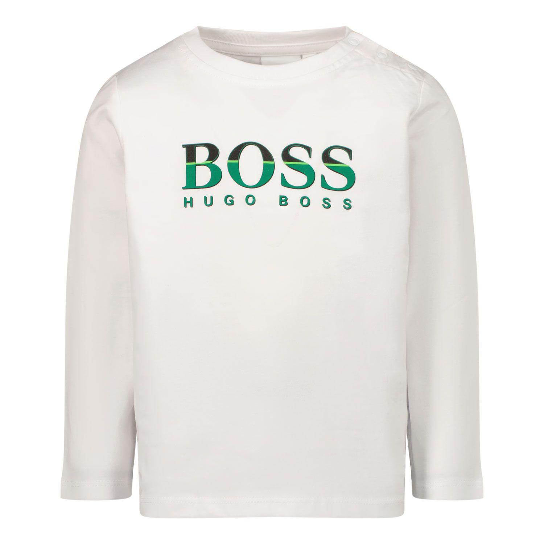 Afbeelding van Boss J05871 baby t-shirt wit