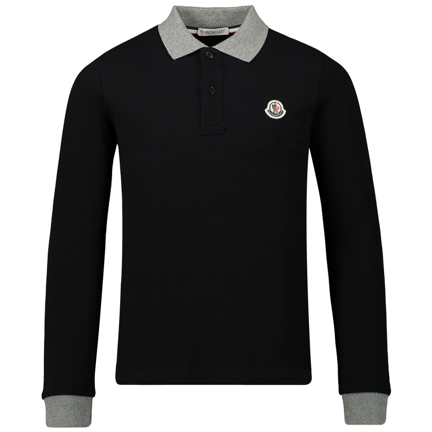Picture of Moncler 8B70820 kids polo shirt black