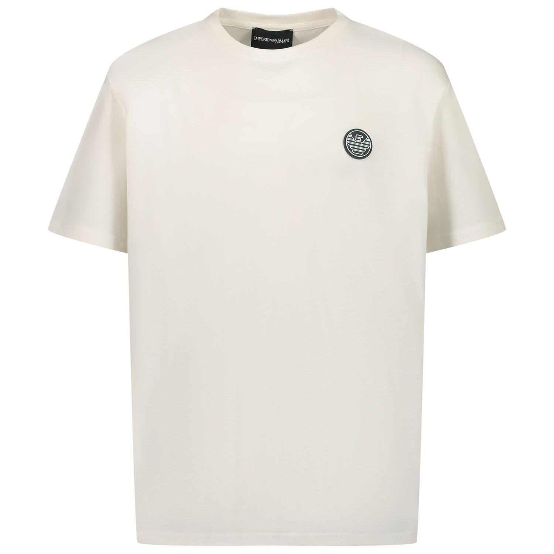 Afbeelding van Armani 3K4TJ2 kinder t-shirt off white