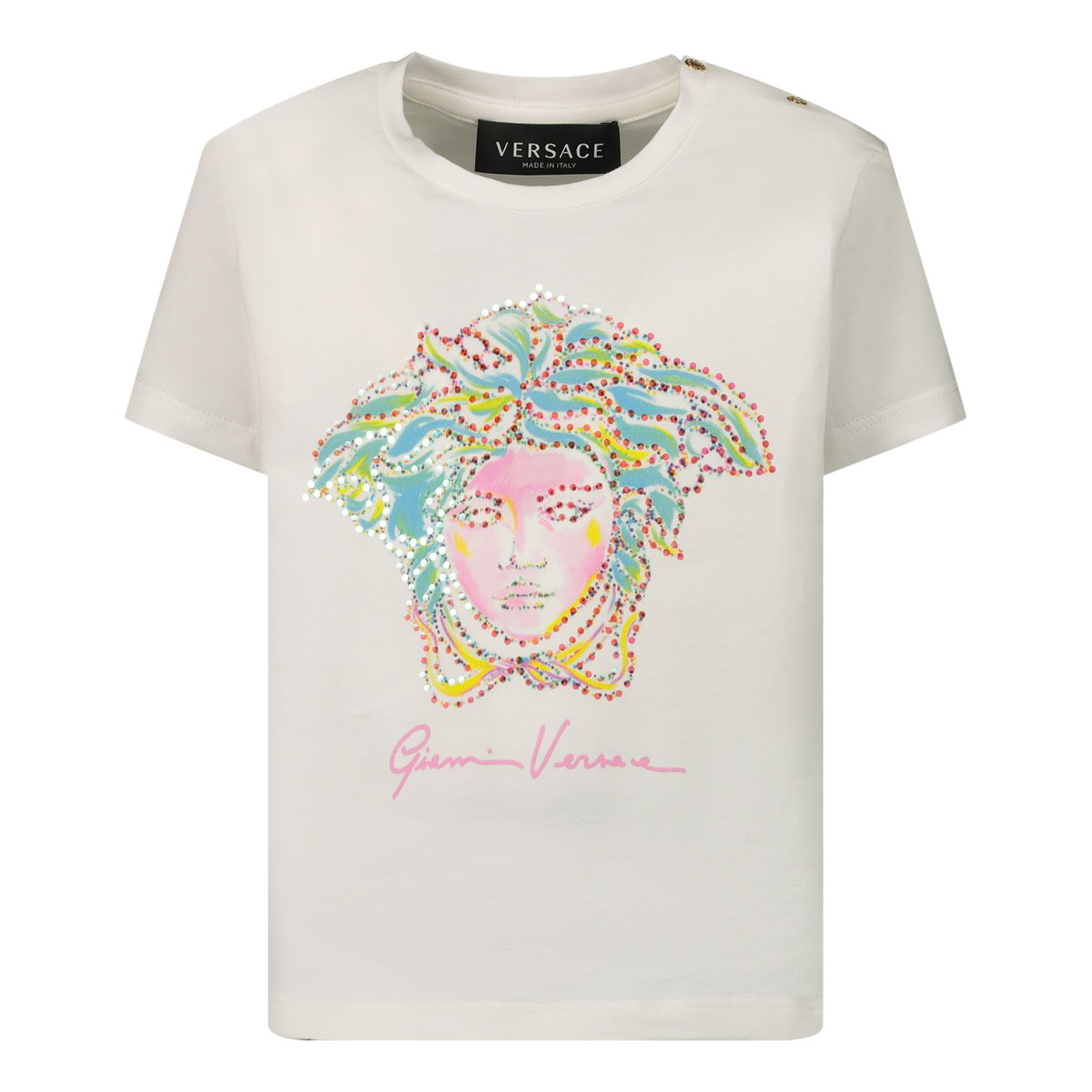 Picture of Versace 1000152 baby shirt white