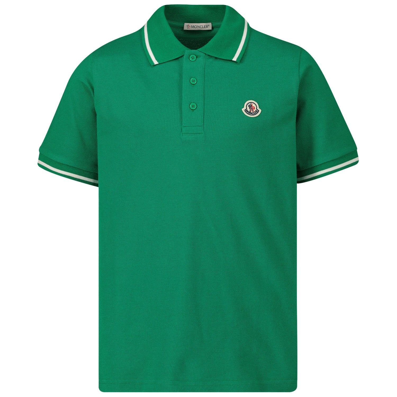 Bild von Moncler 8A70420 Kinder-Poloshirt Grün