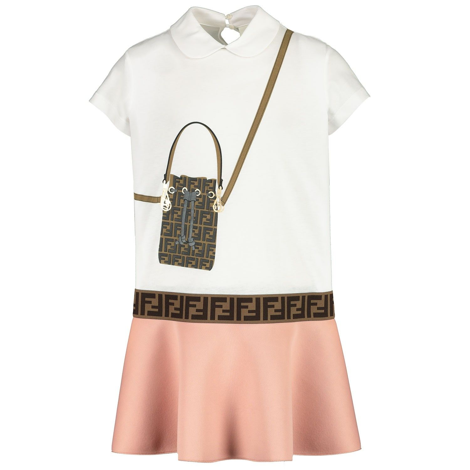 Picture of Fendi JFB319 kids dress white