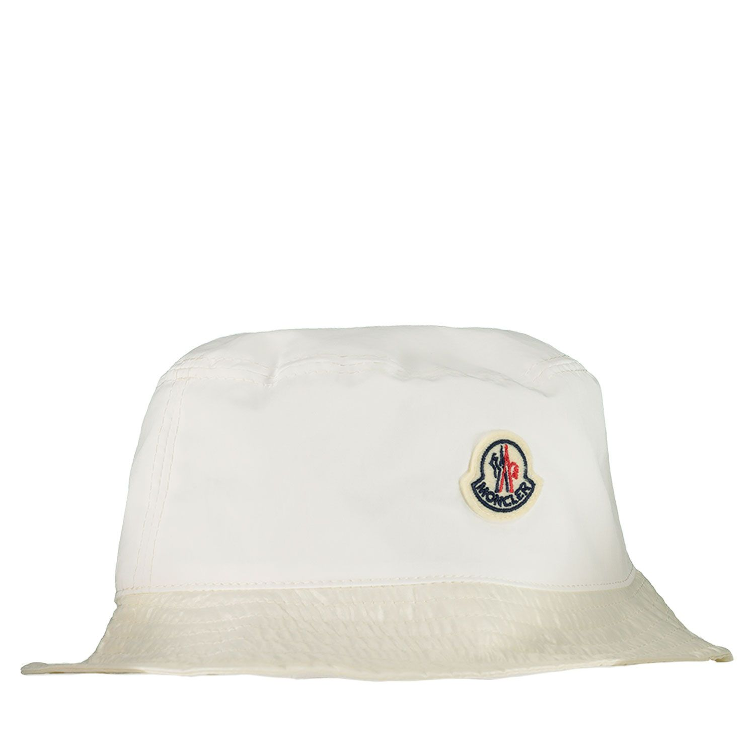 Picture of Moncler 3B70900 baby hat off white