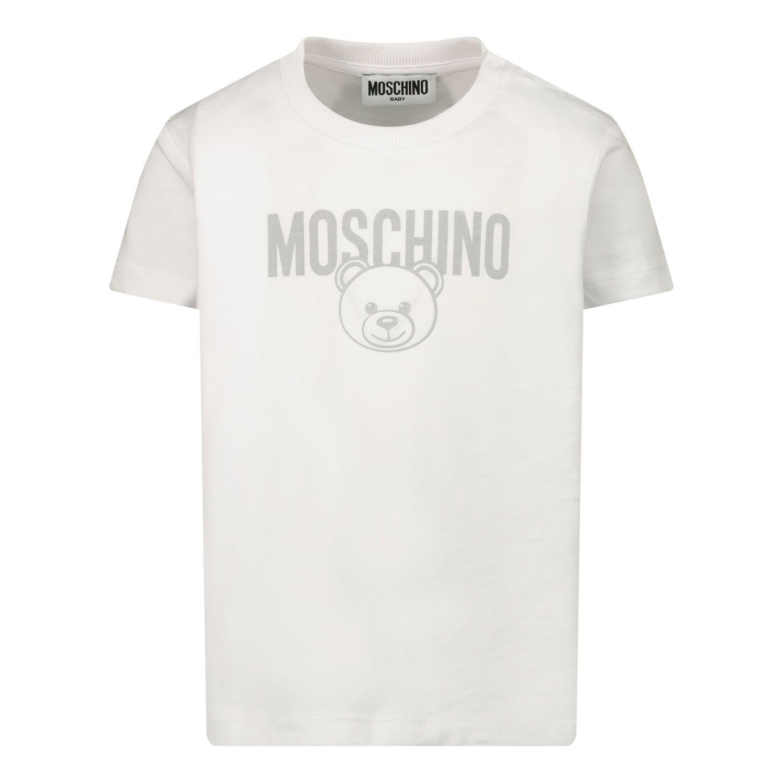 Bild von Moschino MZM02A Baby-T-Shirt Weiß