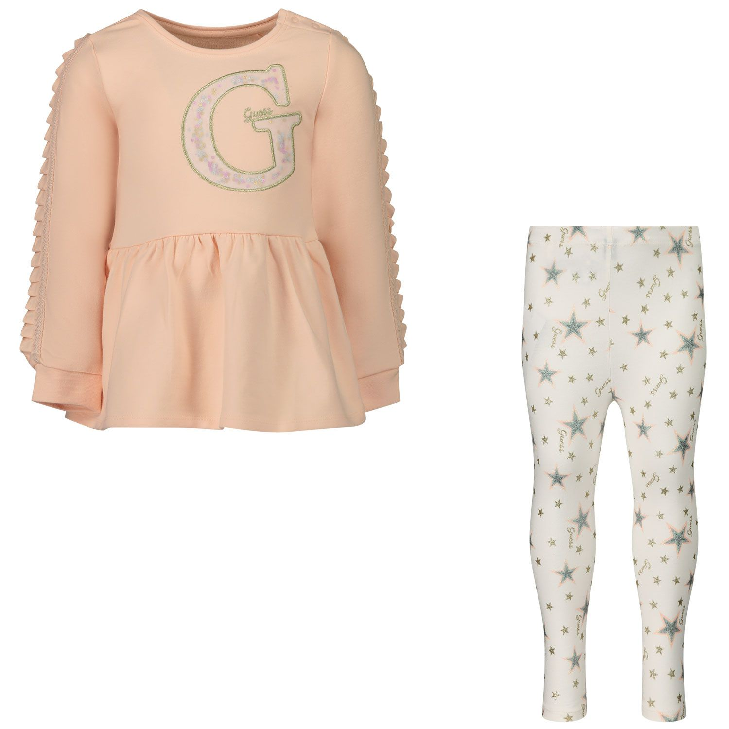 Picture of Guess A0BG01/K82Z0 baby set light pink