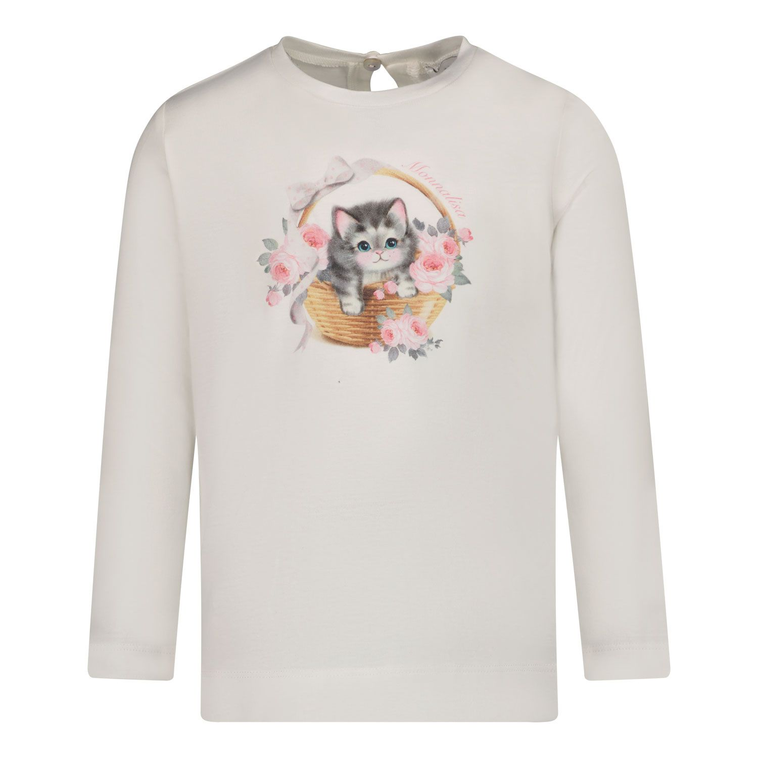 Picture of MonnaLisa 398606SE baby shirt off white