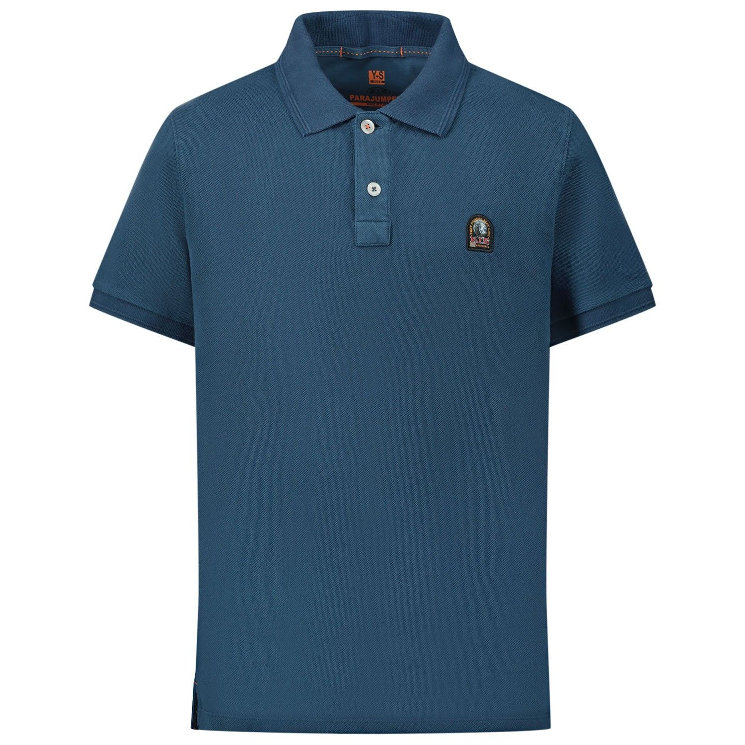 Picture of Parajumpers PO62 kids polo shirt dark blue
