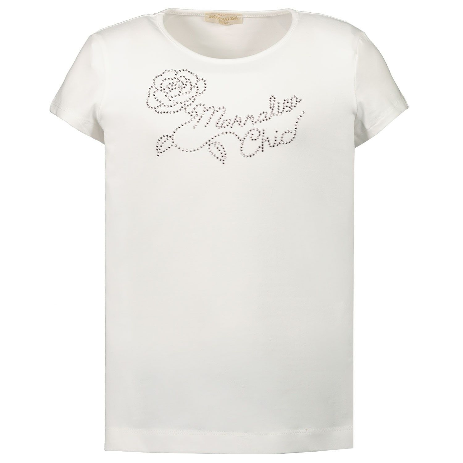 Picture of MonnaLisa 716603AC kids t-shirt off white