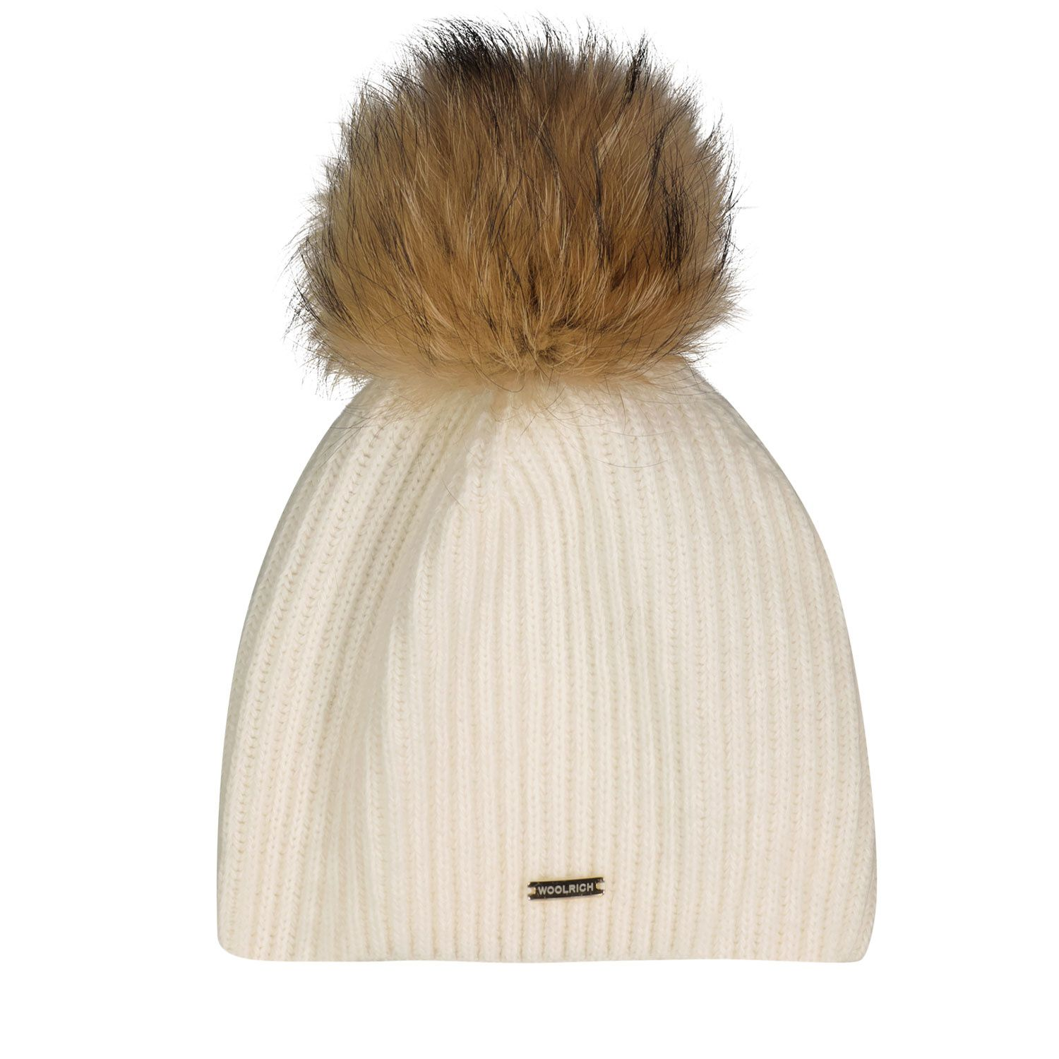 Picture of Woolrich WKAC0113 kids hat off white