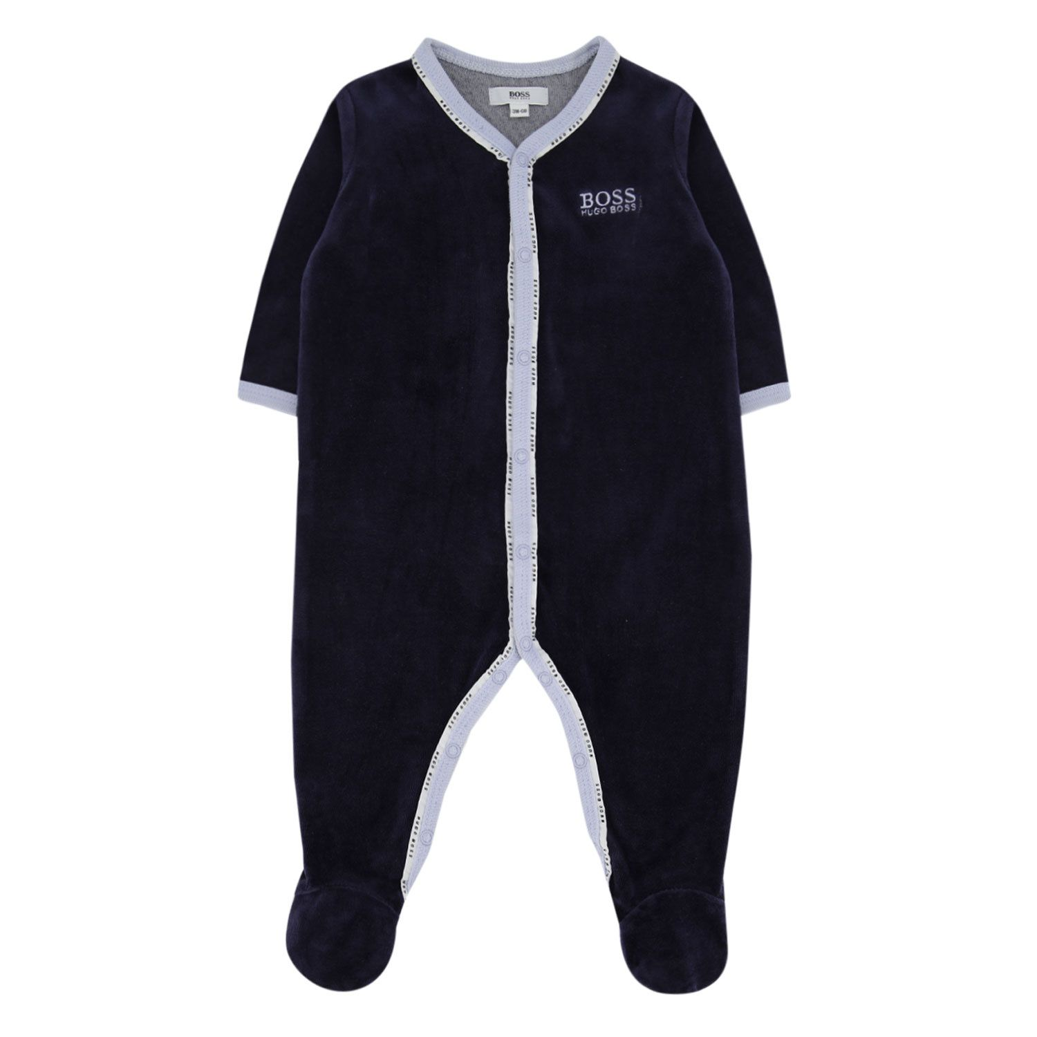 Picture of Boss J97163 baby playsuit navy