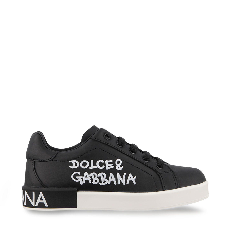 Afbeelding van Dolce & Gabbana D10806 AB271 kindersneakers zwart