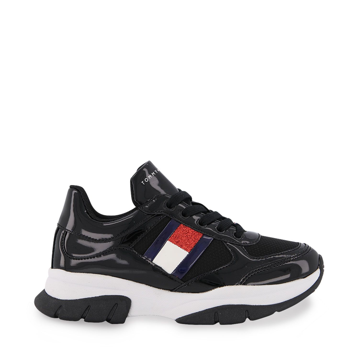 Picture of Tommy Hilfiger 30818 kids sneakers black