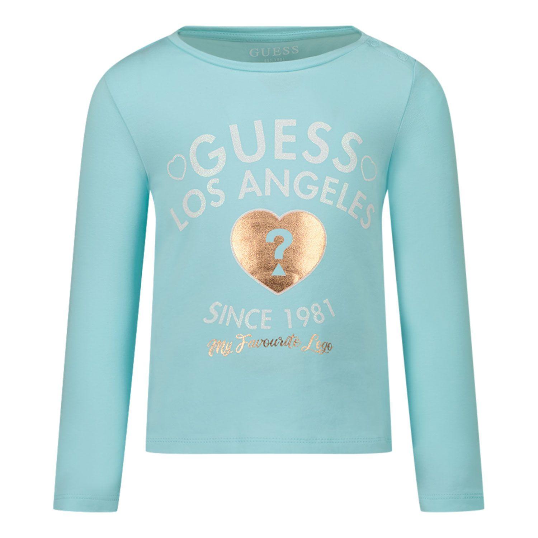 Afbeelding van Guess K1BI18 B baby t-shirt turquoise