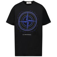 Picture of Stone Island 21053 kids t-shirt black