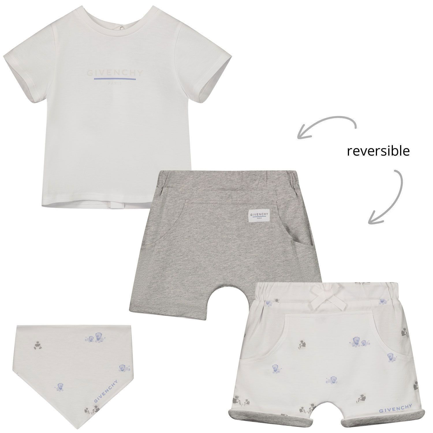 Picture of Givenchy H98109 baby set white