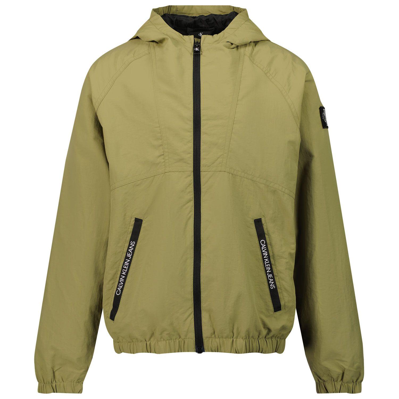 Picture of Calvin Klein IB0IB00856 kids jacket olive green