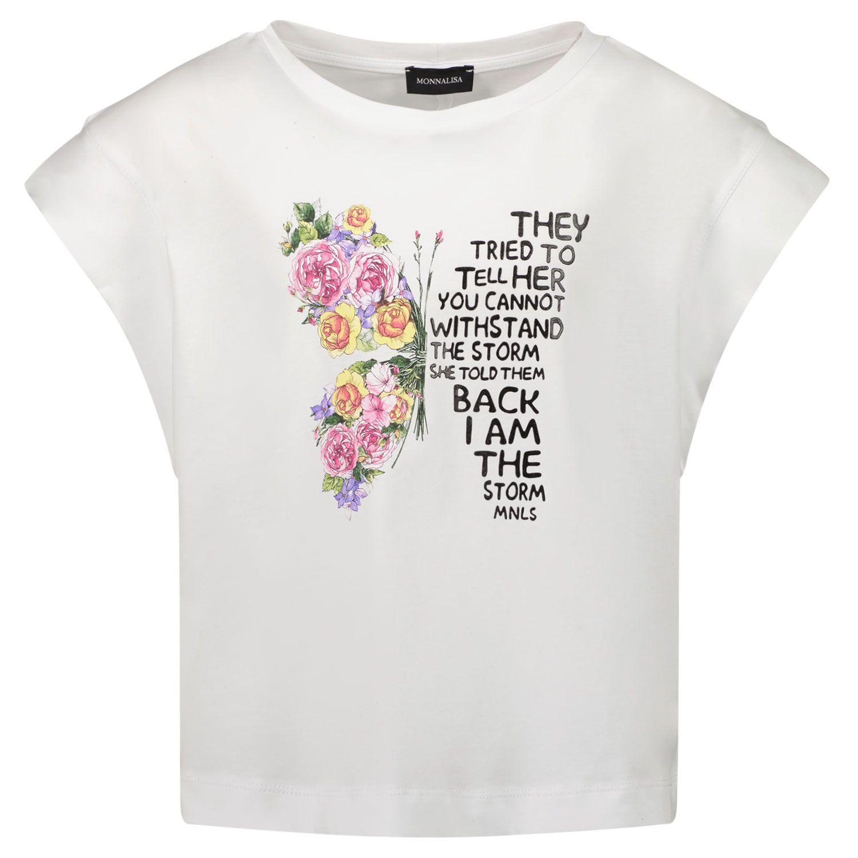 Picture of MonnaLisa 417605PT kids t-shirt white