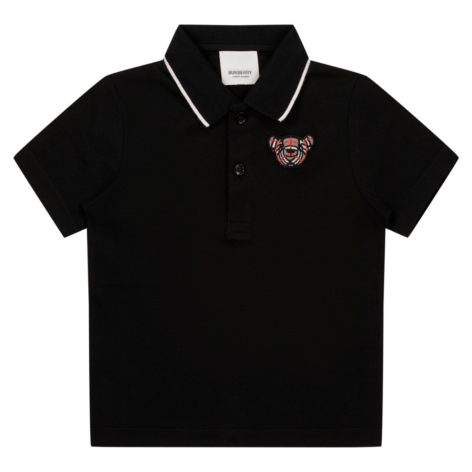 Picture of Burberry 8043934 baby poloshirt black