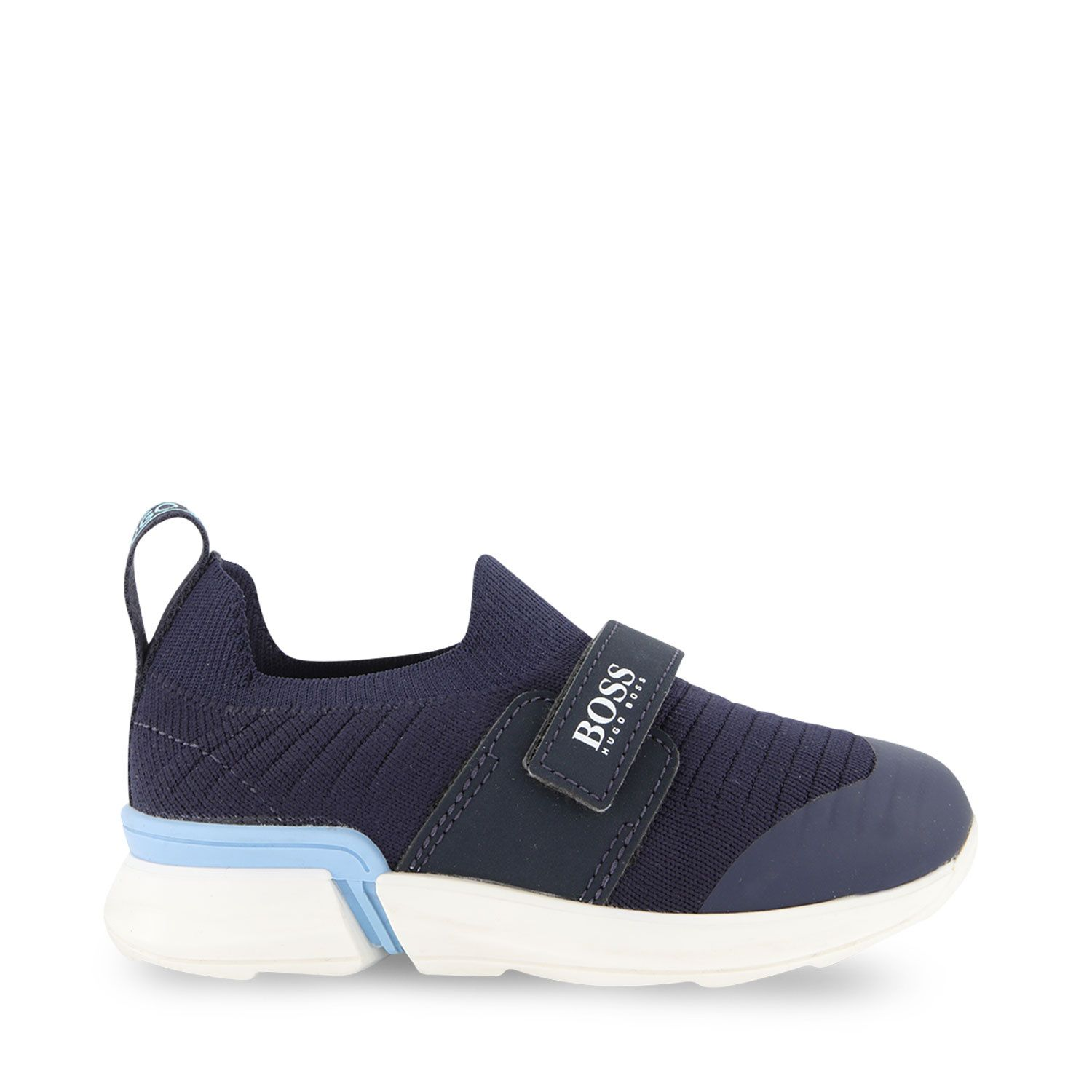 Picture of Boss J09151 kids sneakers navy
