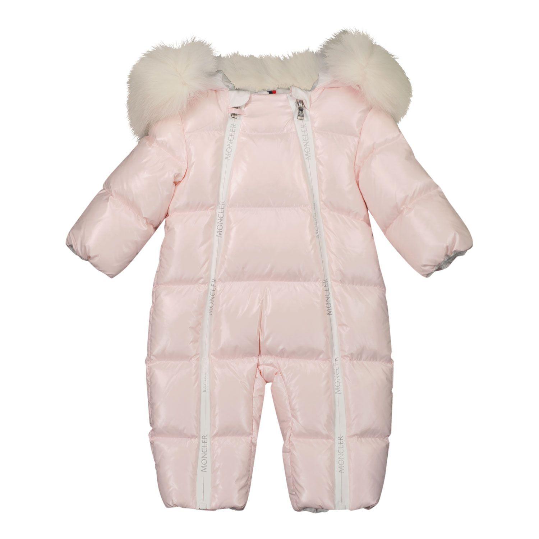 Afbeelding van Moncler 1G52002 baby skipak licht roze
