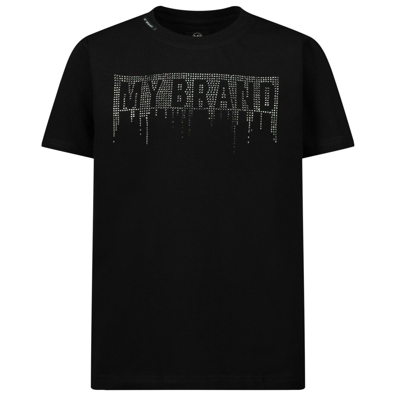Afbeelding van My Brand 3Y20001A0019 kinder t-shirt zwart