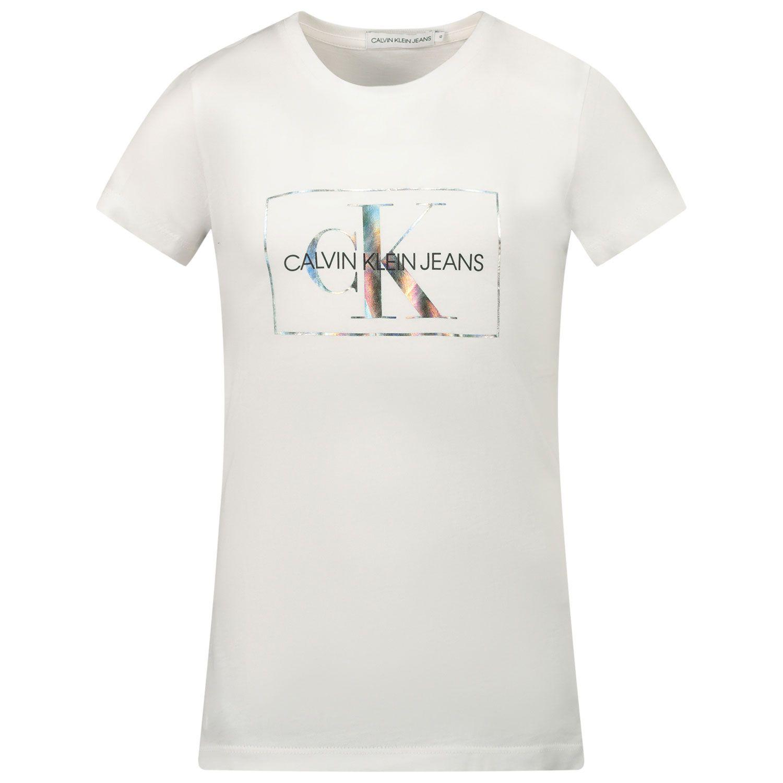 Picture of Calvin Klein IG0IG00561 kids t-shirt white