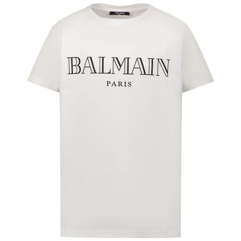 Afbeelding van Balmain 6M8721 kinder t-shirt wit