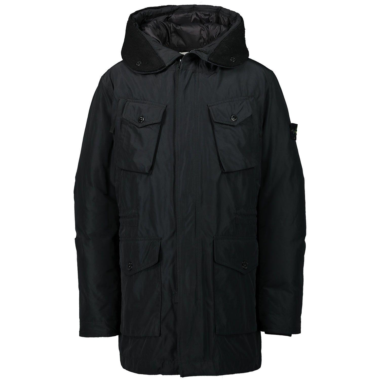 Picture of Stone Island 711640534 kids jacket black