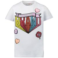 Picture of My Brand 001A0017 kids t-shirt white