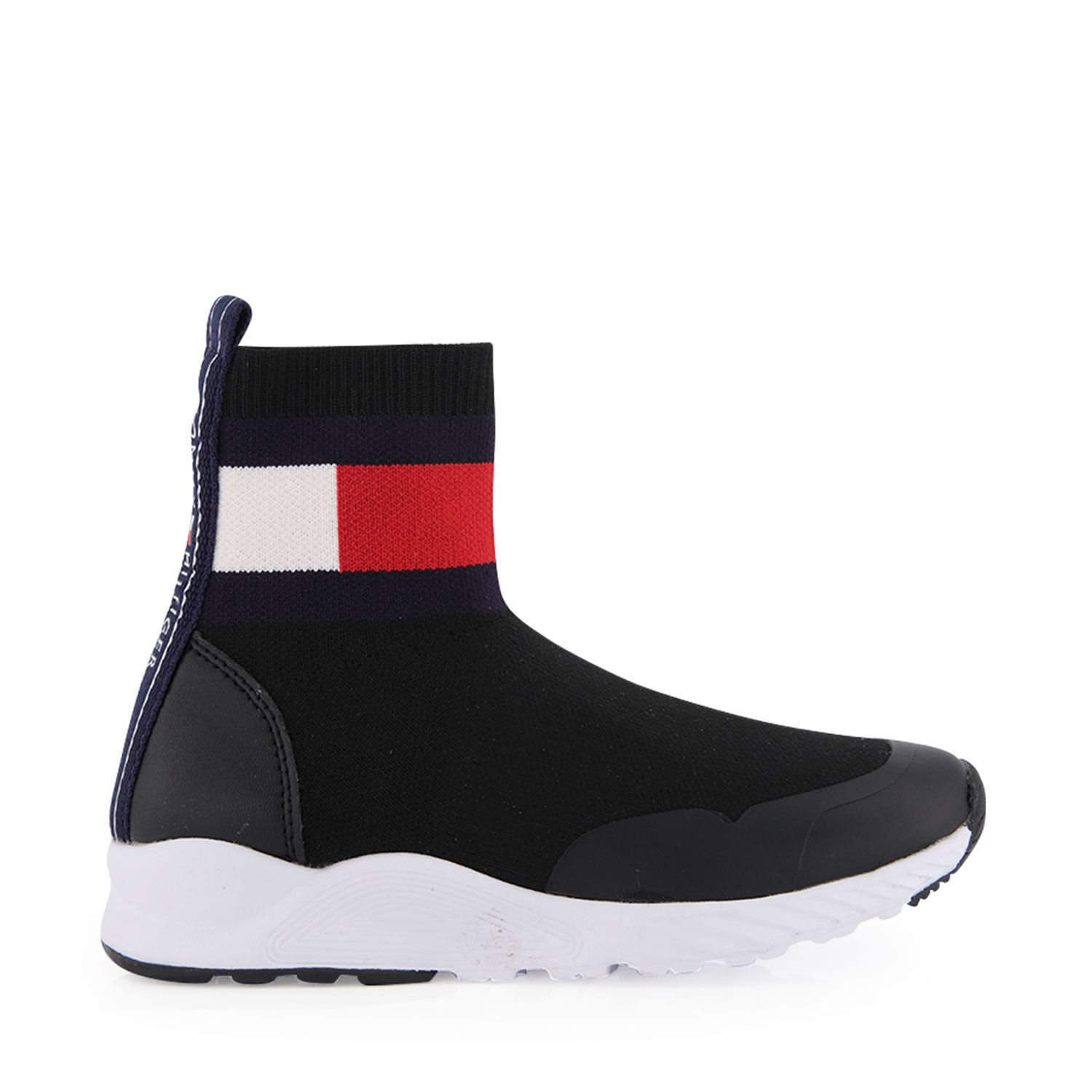 Picture of Tommy Hilfiger 30630 kids sneakers black