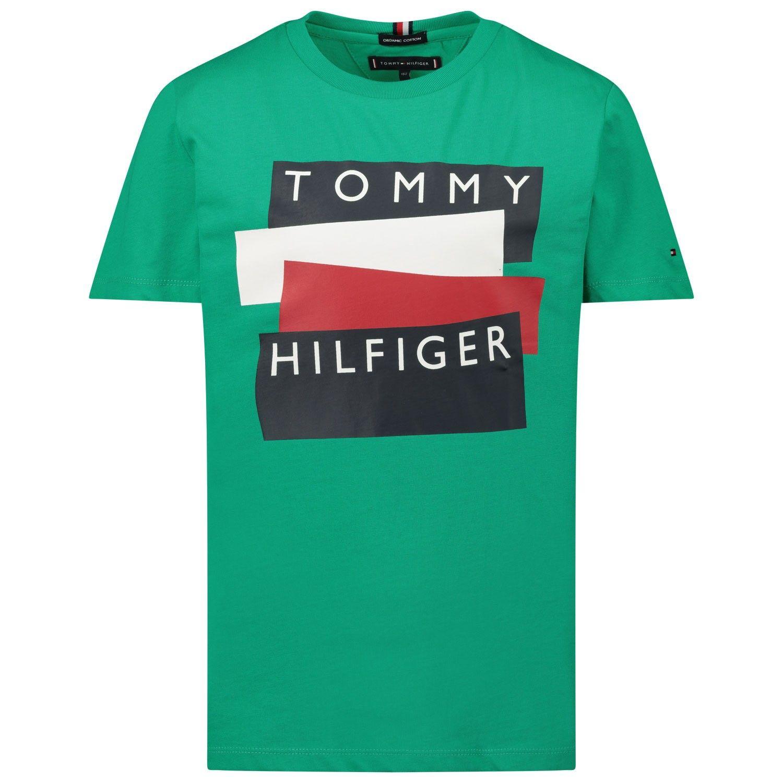Picture of Tommy Hilfiger KB0KB05849 kids t-shirt green