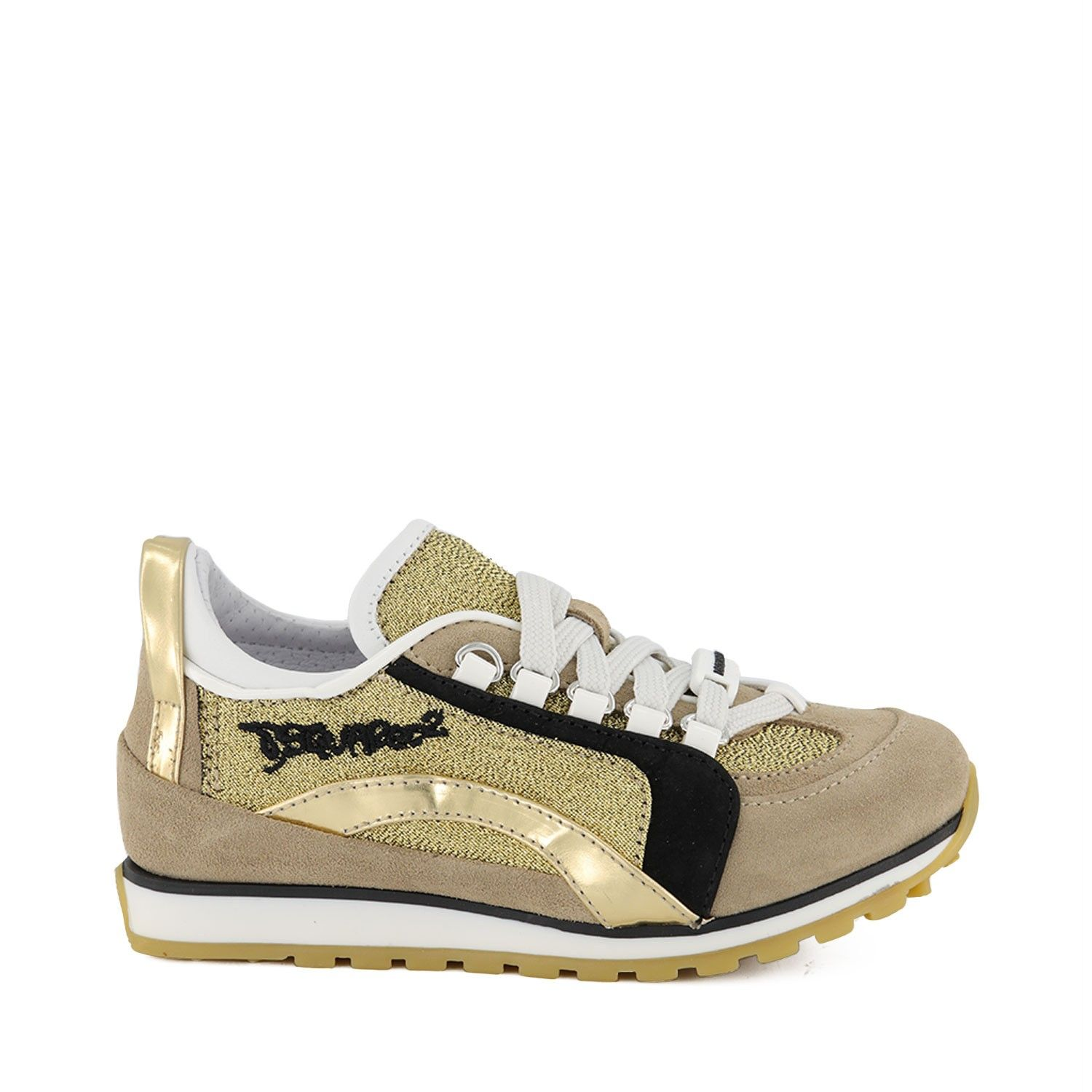 Picture of Dsquared2 63511 kids sneakers gold
