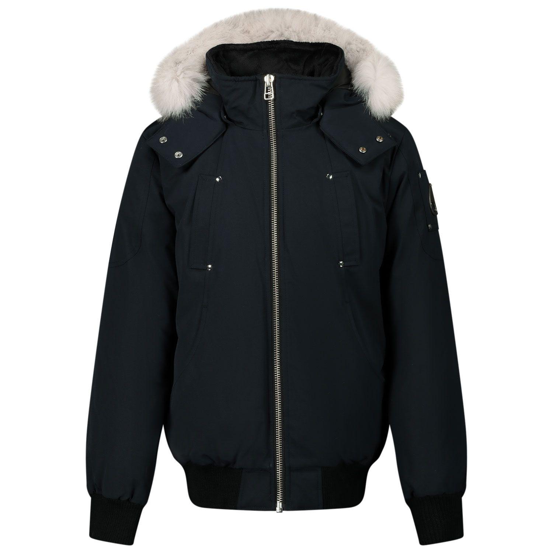 Picture of Moose Knuckles MK2633YBB kids jacket navy