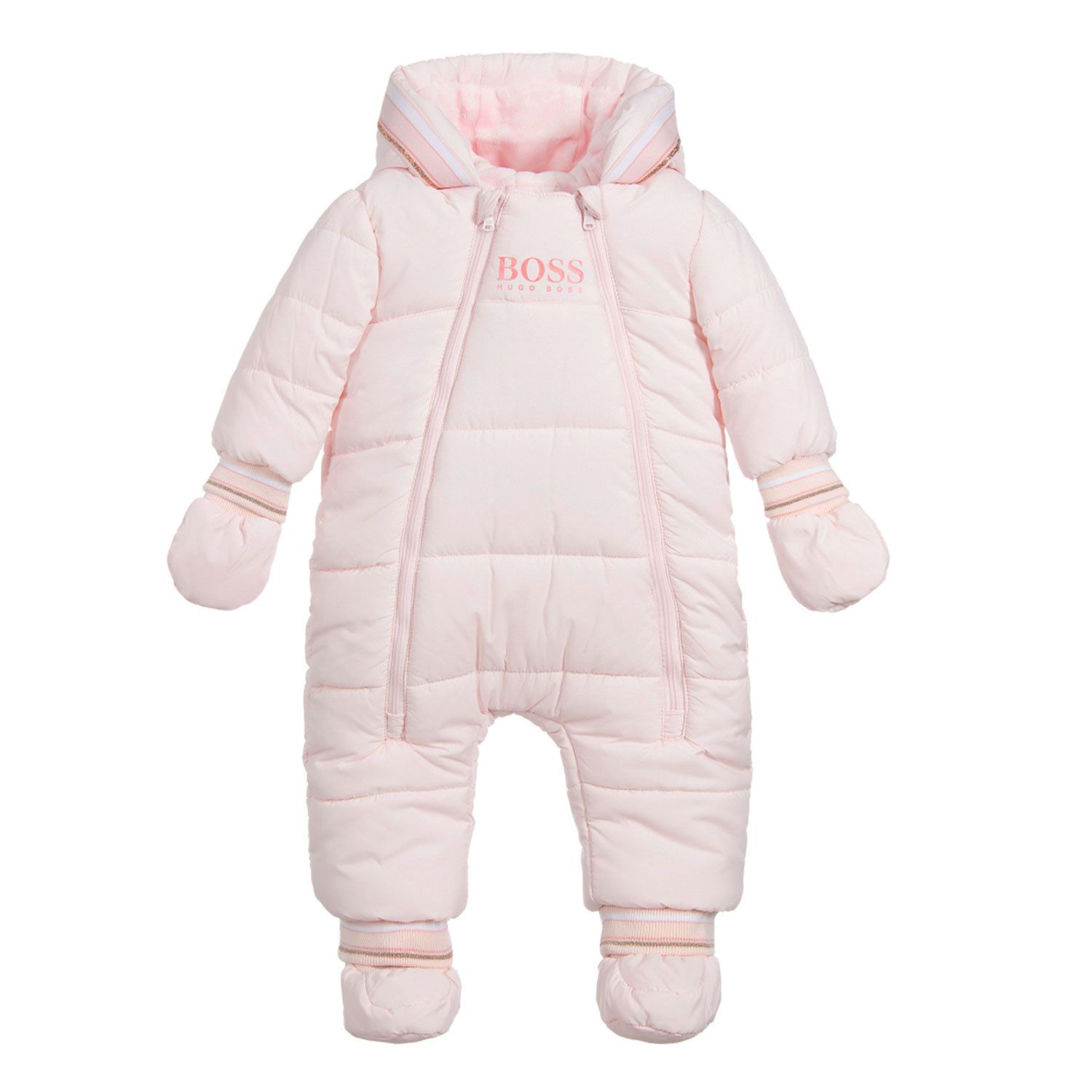 Picture of Boss J96089 baby snowsuit light pink