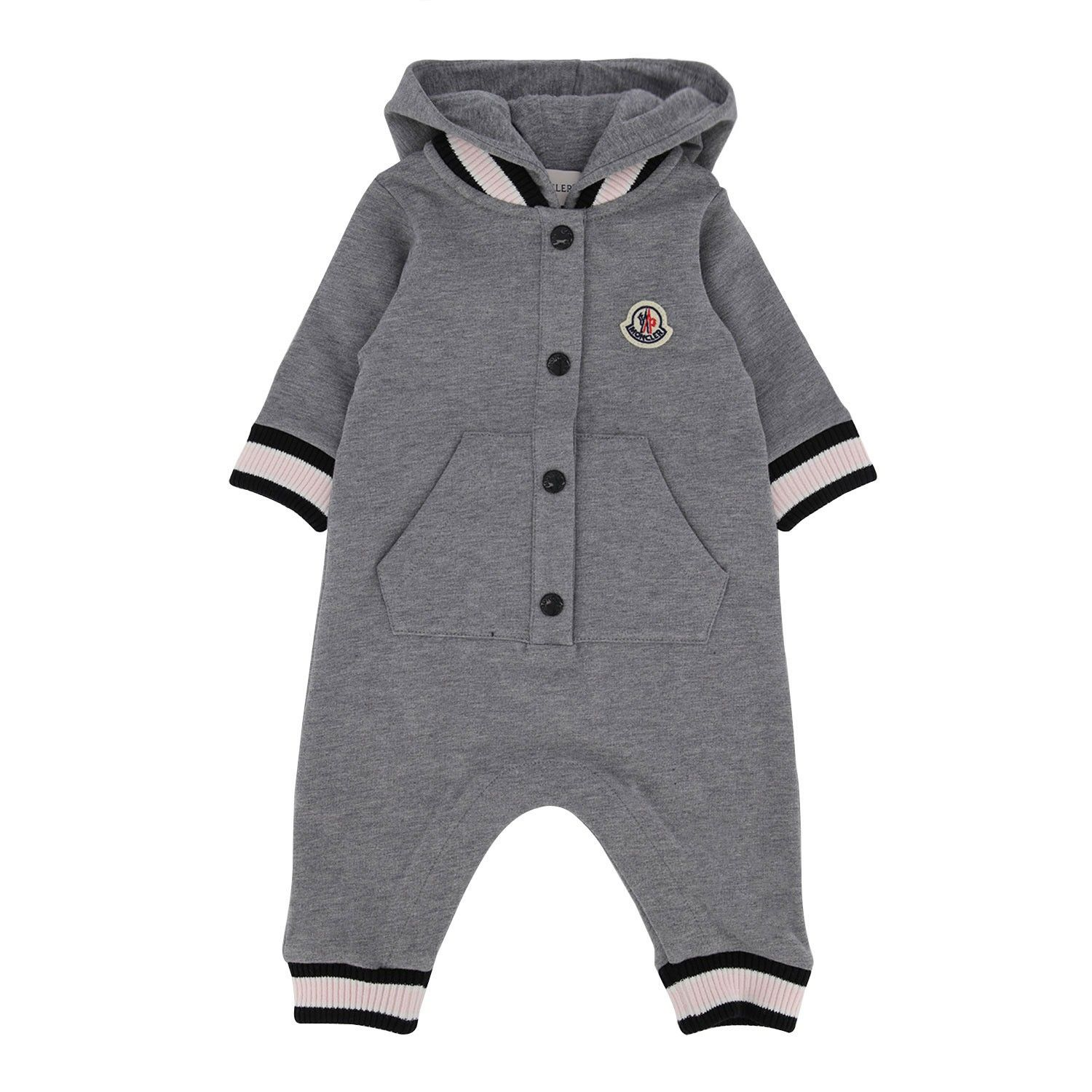 Picture of Moncler 8L71600 baby playsuit light gray