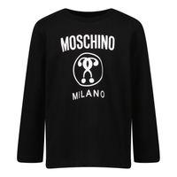 Picture of Moschino MVO005 baby shirt black