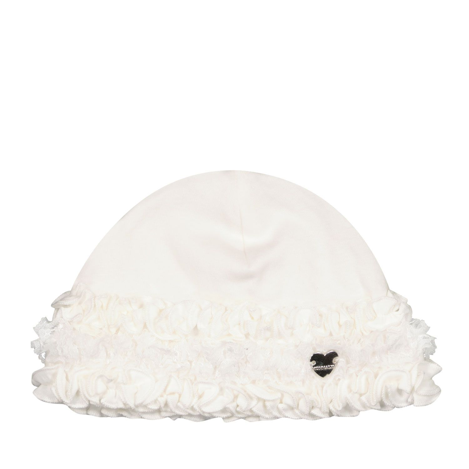 Picture of MonnaLisa 357006 baby hat off white