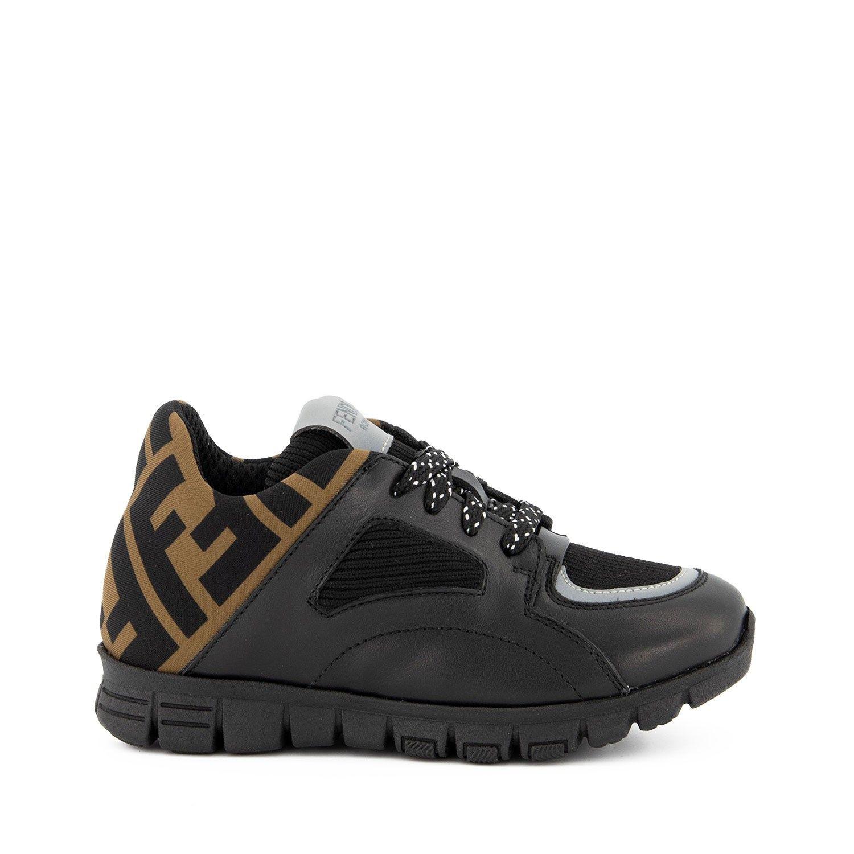 Picture of Fendi JMR334 A8CJ kids sneakers black