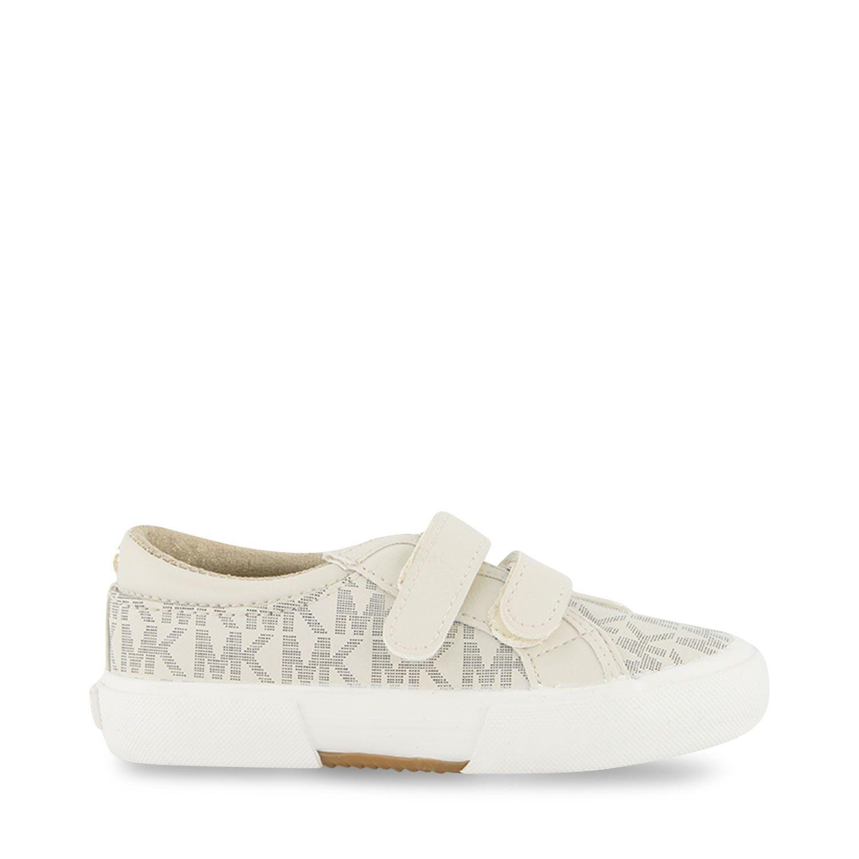 Afbeelding van Michael Kors MK100014 kindersneakers off white
